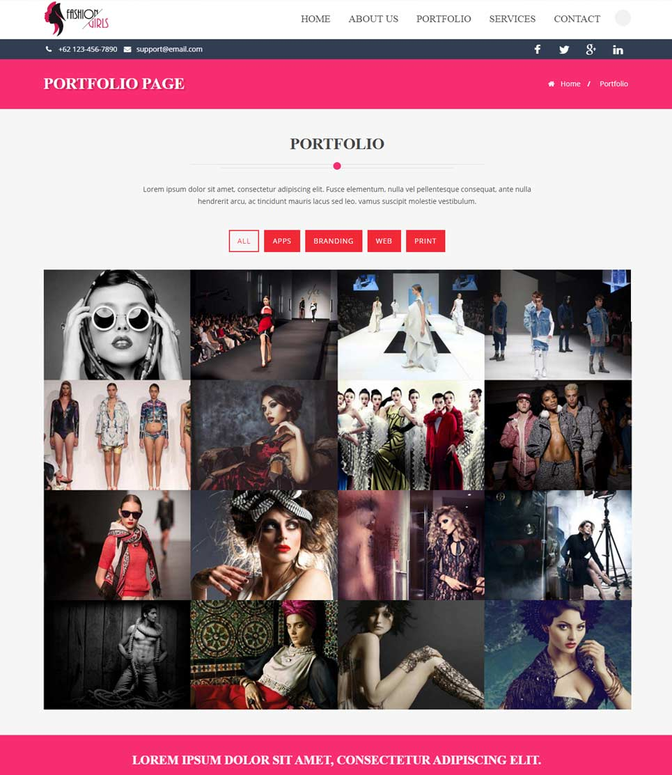 Shopping Cart Responsive Web Template Full Width Layout
