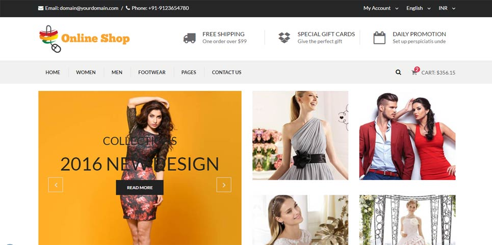 Fashion Online Shopping Cart Free Responsive Template | Free ...